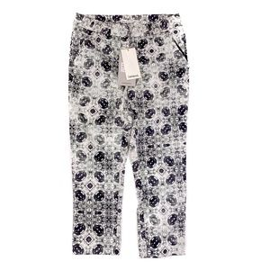 Lavand Pants - Lavand Capri Pants Cotton Blend Gray White Small